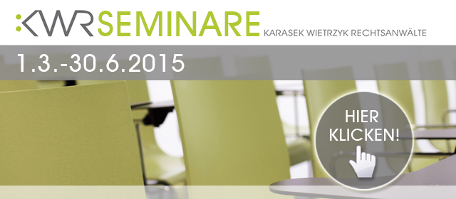 BILD - KWR Inhouse-Seminarprogramm Frühjahr 2015