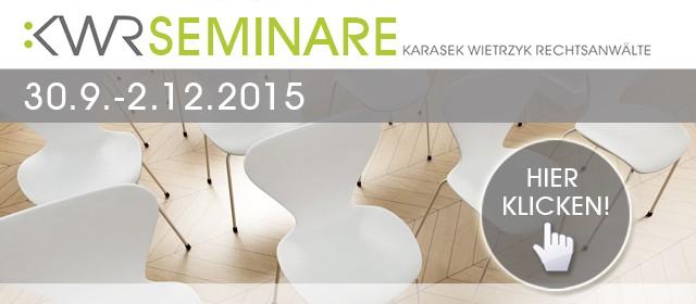 BILD - Neu! KWR-Seminarprogramm Herbst 2015